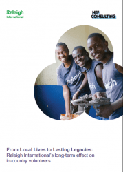 NEF Consulting report into Raleigh International volunteer programme